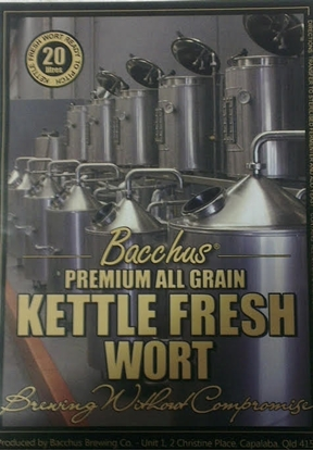 Picture of Bacchus Ale Base Fresh Wort Kit (20L)