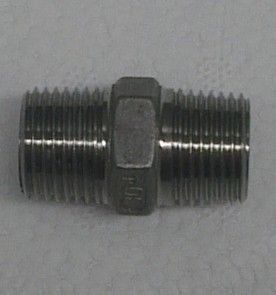 "Picture of Threaded Hex Nipple - 1/2"" BSP"