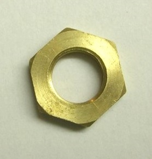 "Picture of Locking Nut (Brass 3/8"")"