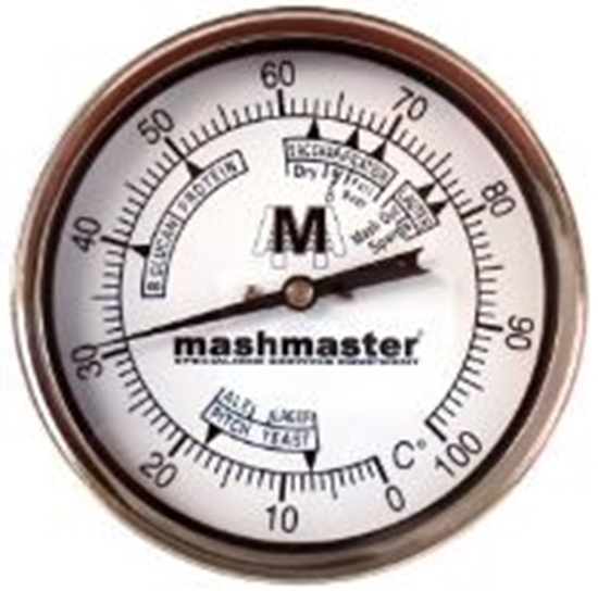 """Picture of Bi-Metal Thermometer Weldless (4"""" Dial)"""