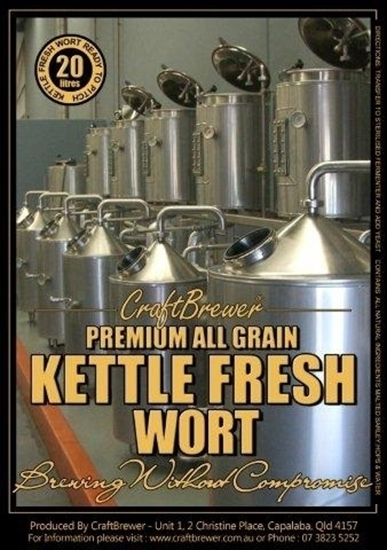 Picture of Bacchus Red Bellied Black - Fresh Wort Kit (20L) +Dark2 Candi Syrup + Simcoe 90g + CB American Twin Pk.