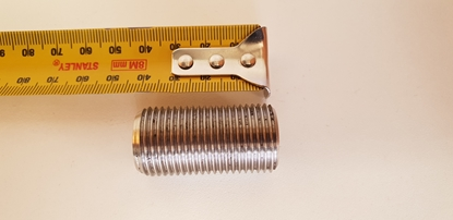 Picture of Westway s/s  1/2 inch  threaded pipe 40mm long