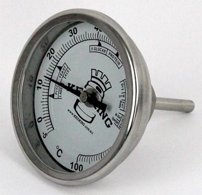 "Picture of Bi-Metal Thermometer 1/2"" NPT (kegking)"
